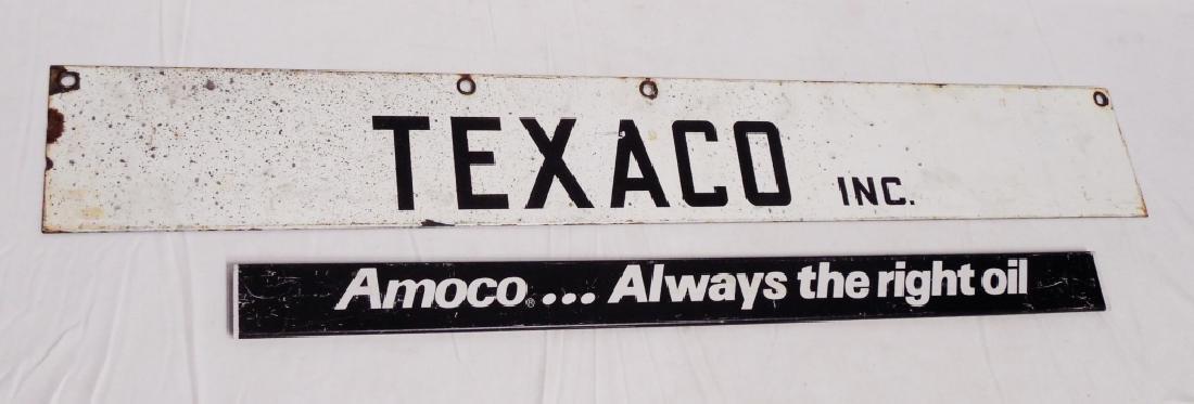 Lot of 2 Signs Texaco Inc. and Amoco