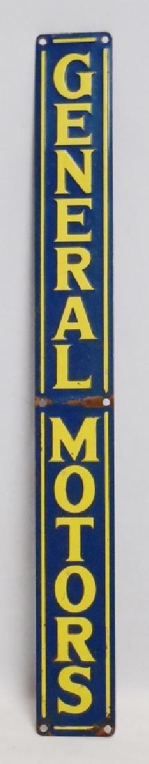 Tin General Motors Sign