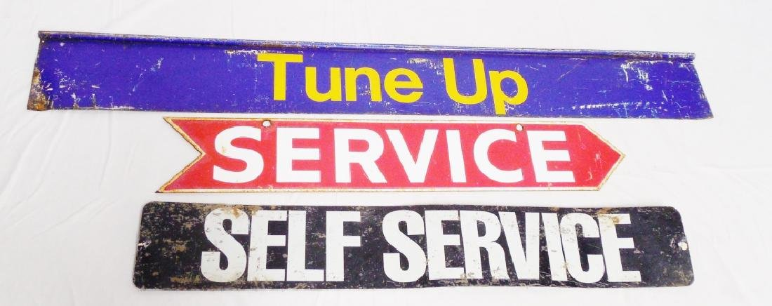 Lot of 3 Automobile Service 2 Sided Signs