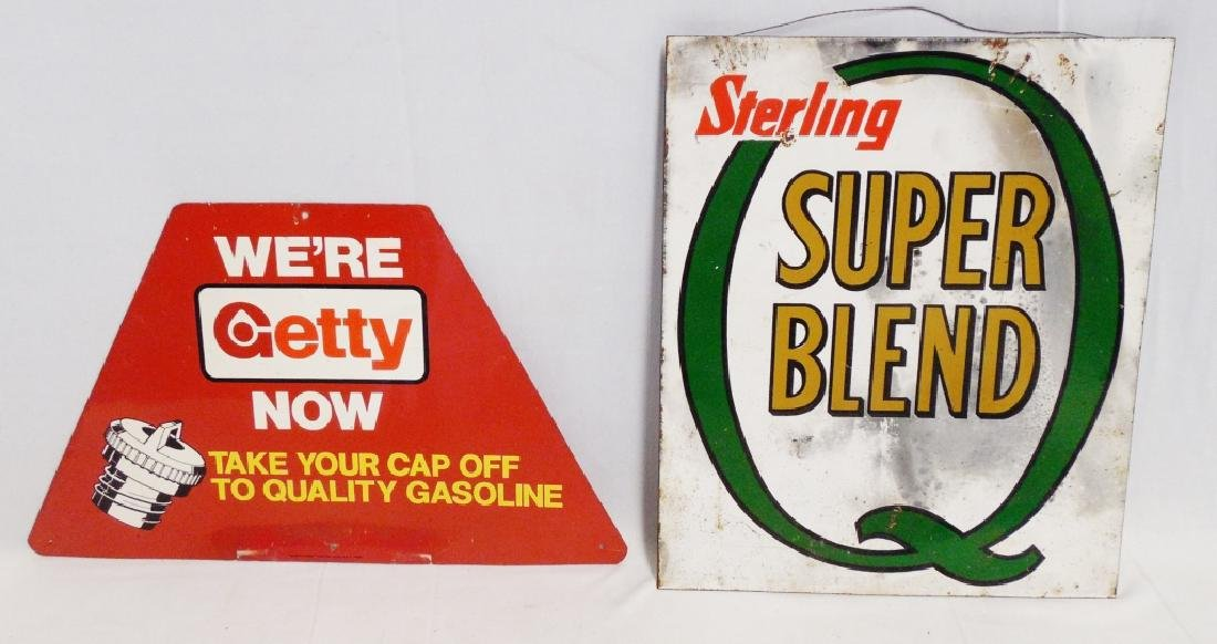 Lot of 2 Automobile Advertising Signs