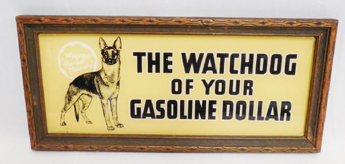 Wayne Pump Gasoline Framed Advertisment