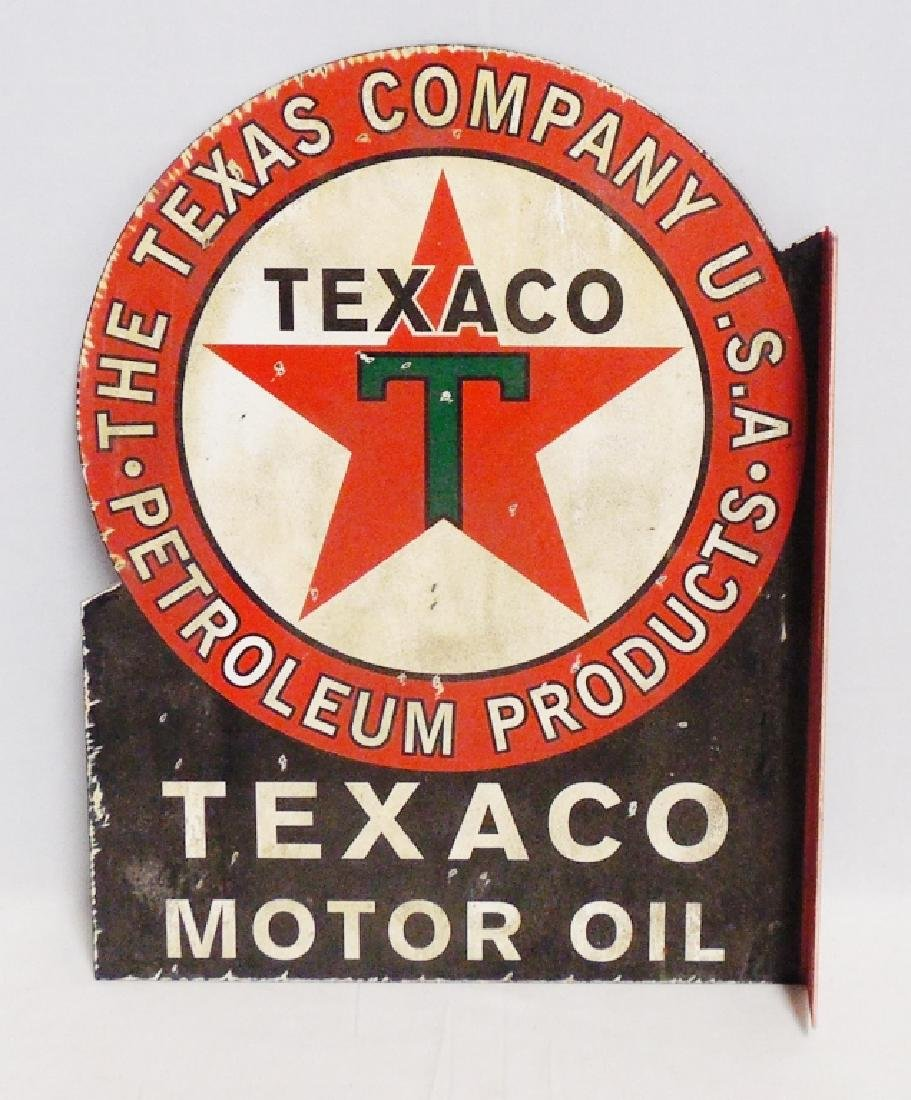 2 Sided Texaco Flange Advertising Sign