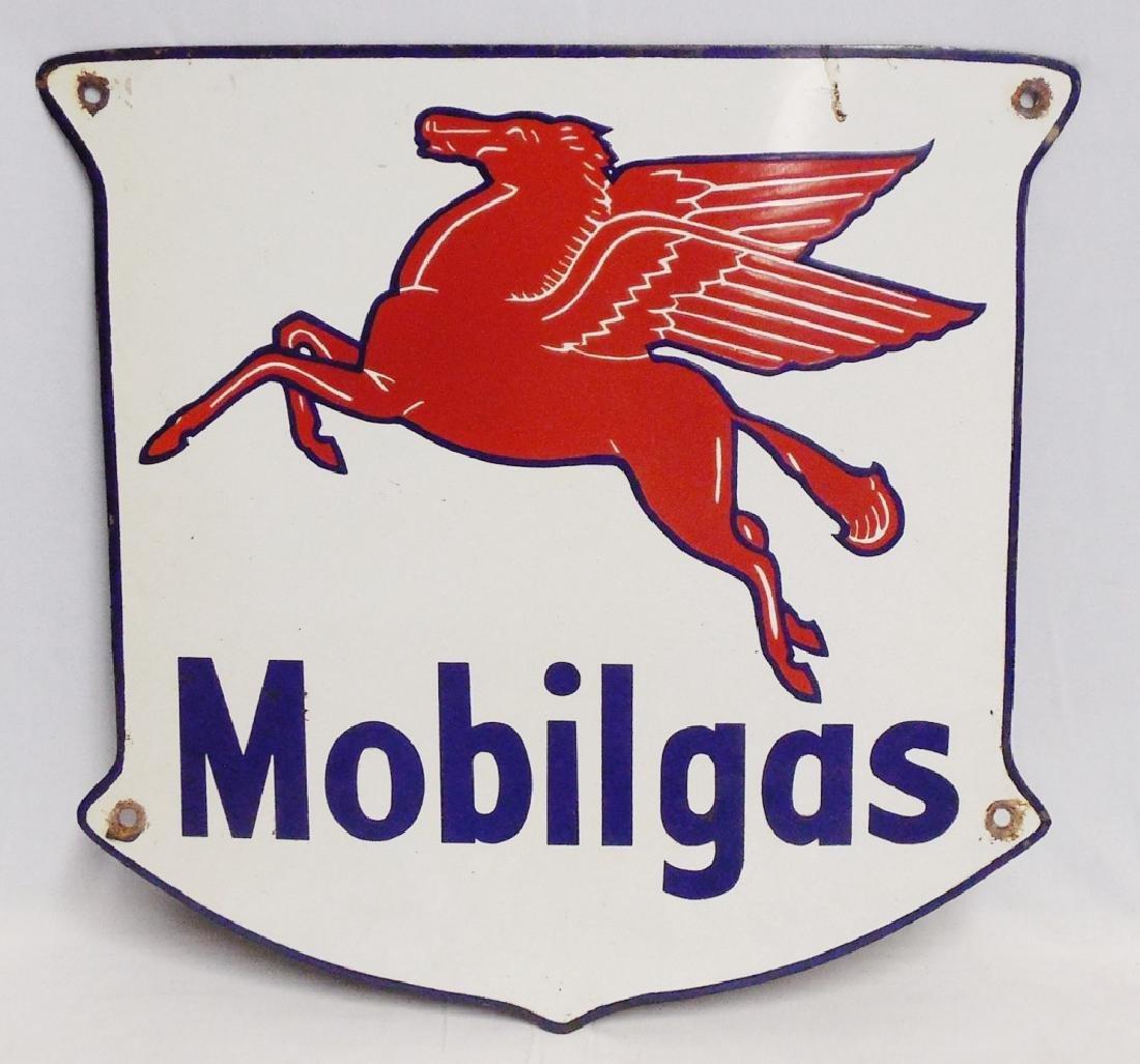 Porcelain Mobil Gas Sign