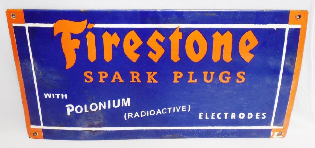 Porcelain Firestone Spark Plugs Sign