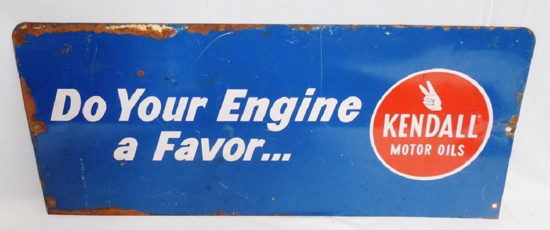 Kendall Motor Oils Metal Sign