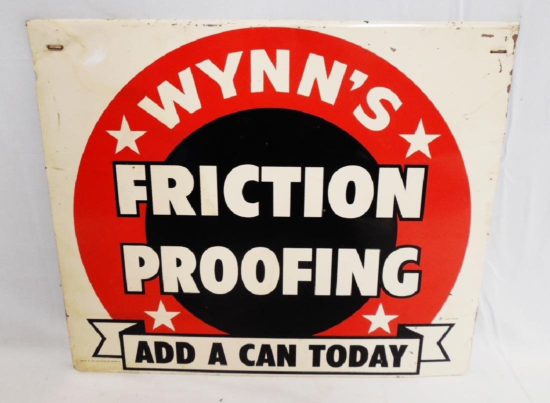 Wynn's Friction Proofing Tin Sign
