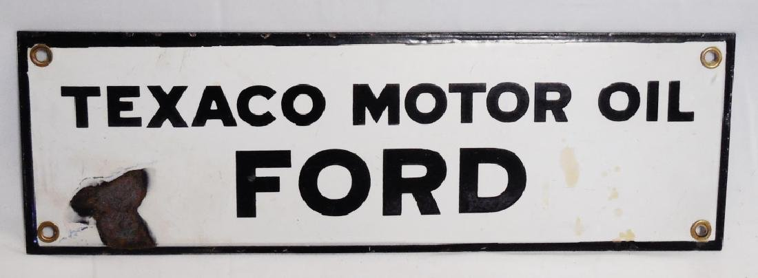 Texaco Ford Motor Oil Porcelain Sign