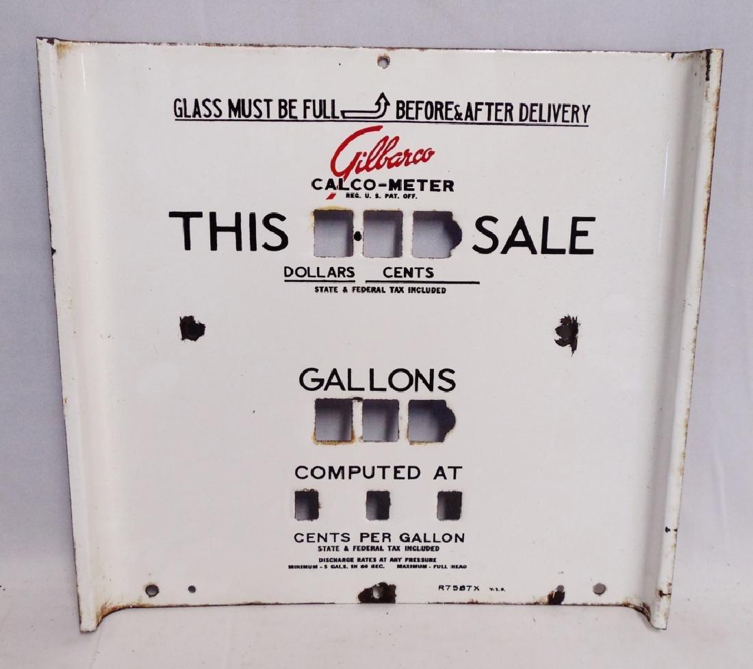 Gilbarco Calco-Meter Gallon/Sale Face Plate