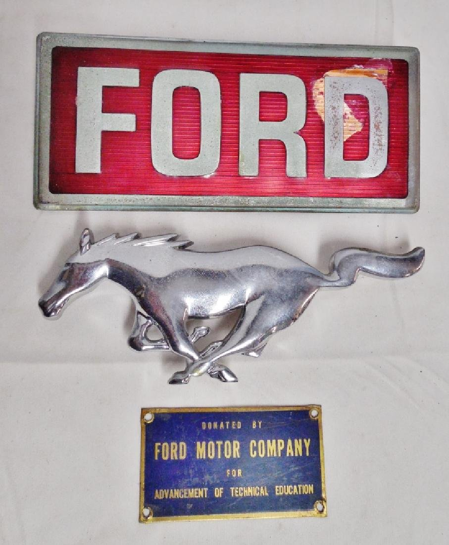 Lot of 3 Ford Signs/Emblems