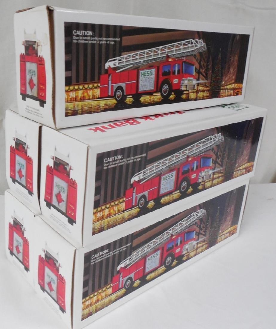 Lot of 5 1986 Hess Red FireTrucks
