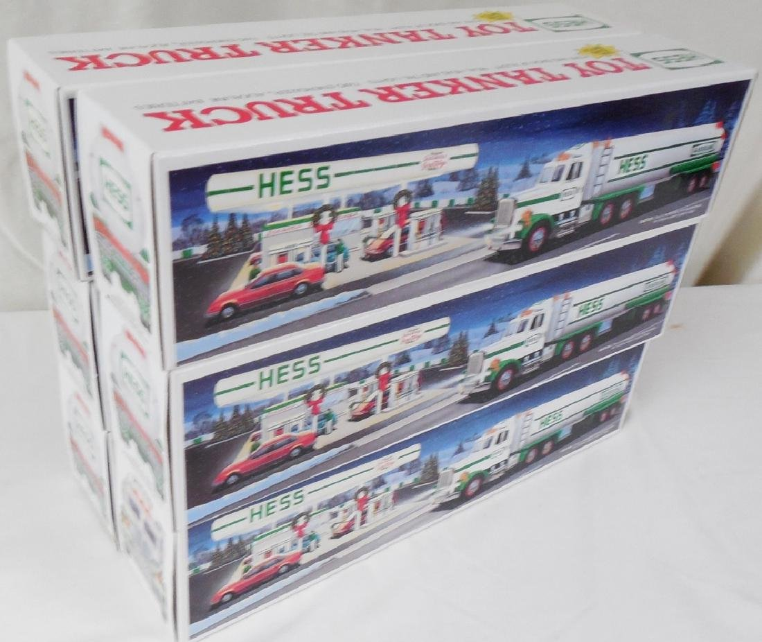 Lot of 6 1990 Hess Truck Tankers