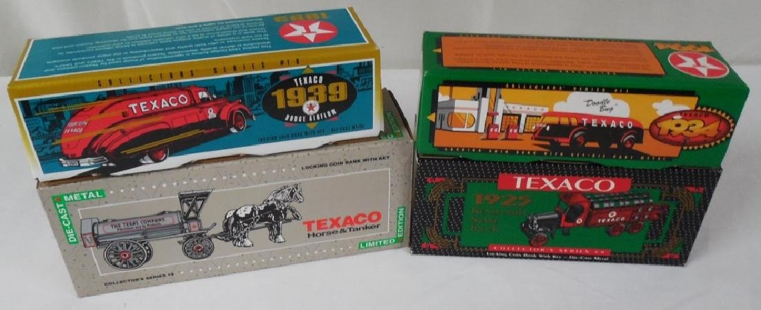 Lot of 4 Ertl Texaco Trucks w/ Boxes