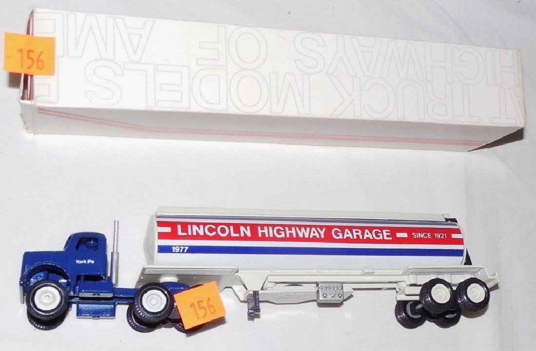Winross Lincoln Highway Garage Tanker