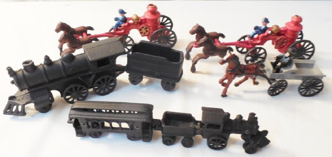 Lot of 1970's Cast Iron Toys