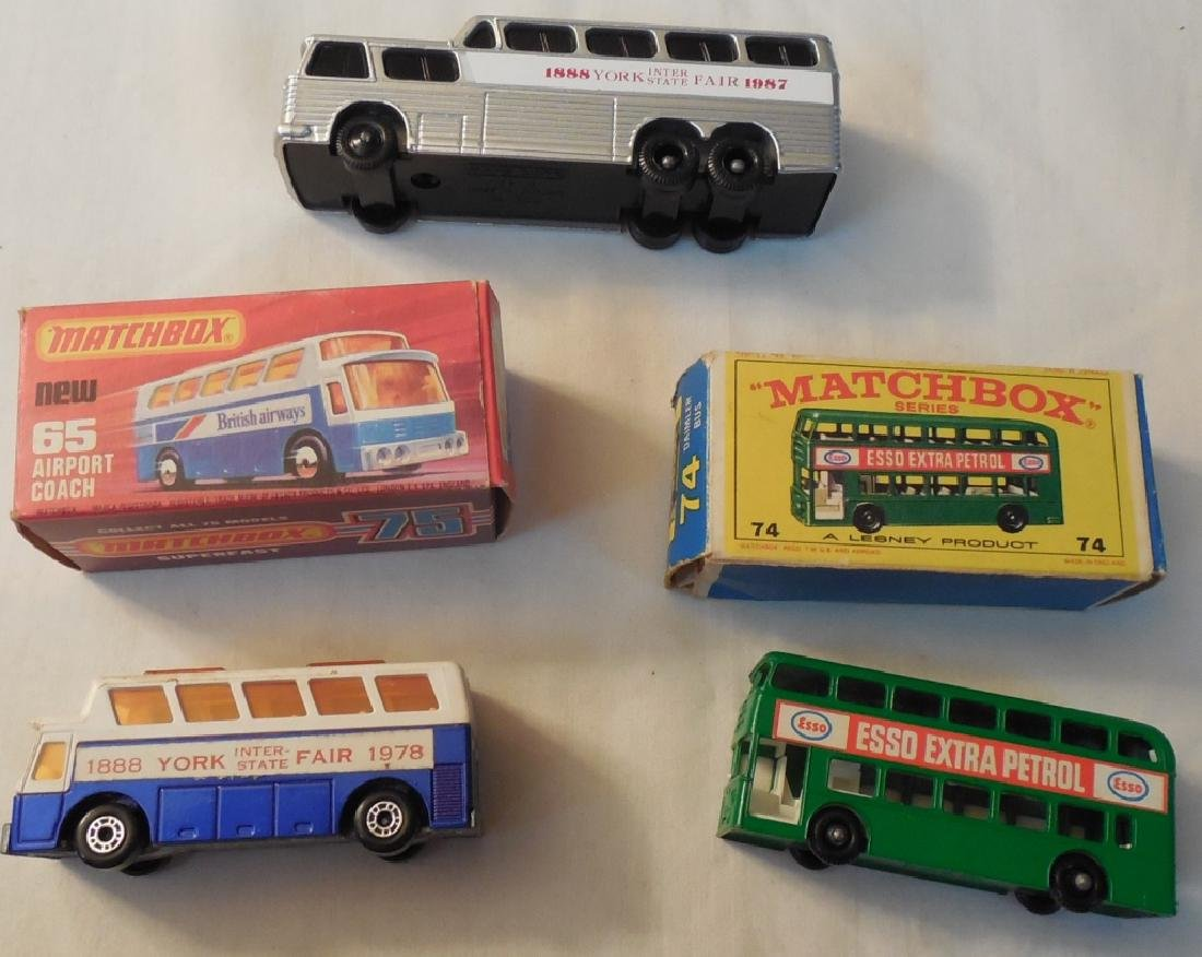 3 Matchbox Buses