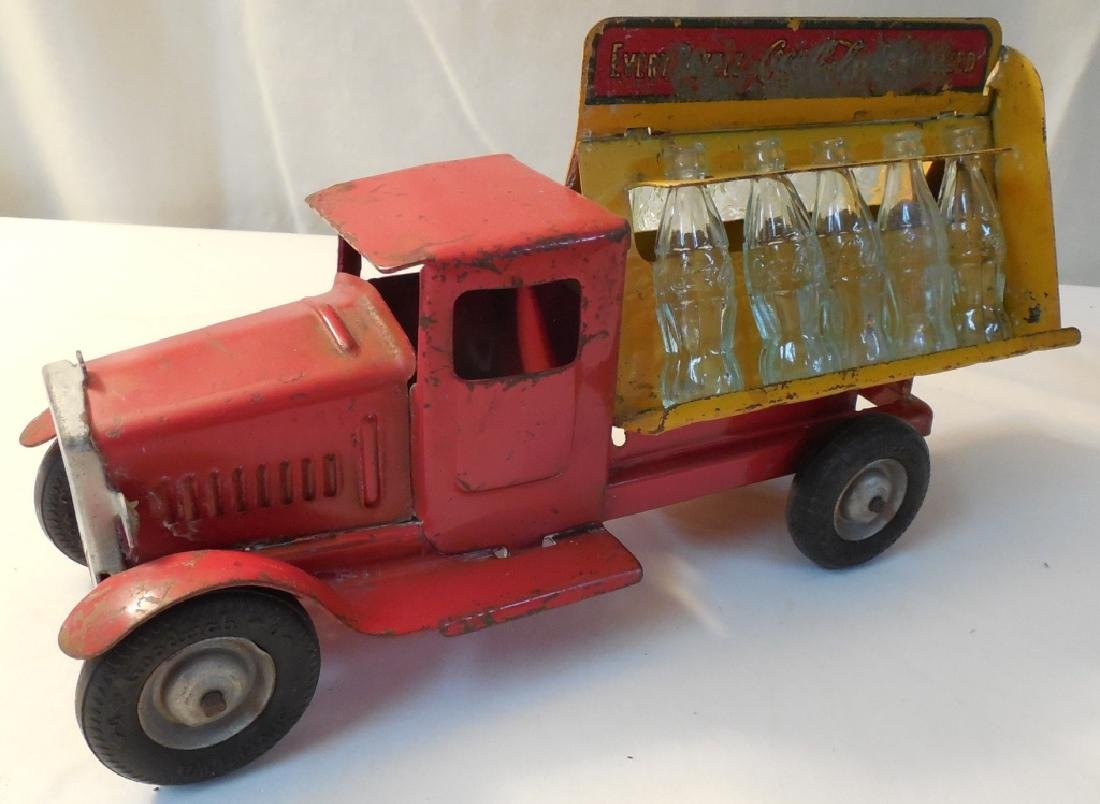 Old Coca-Cola Truck w/ 8 Glass Bottles