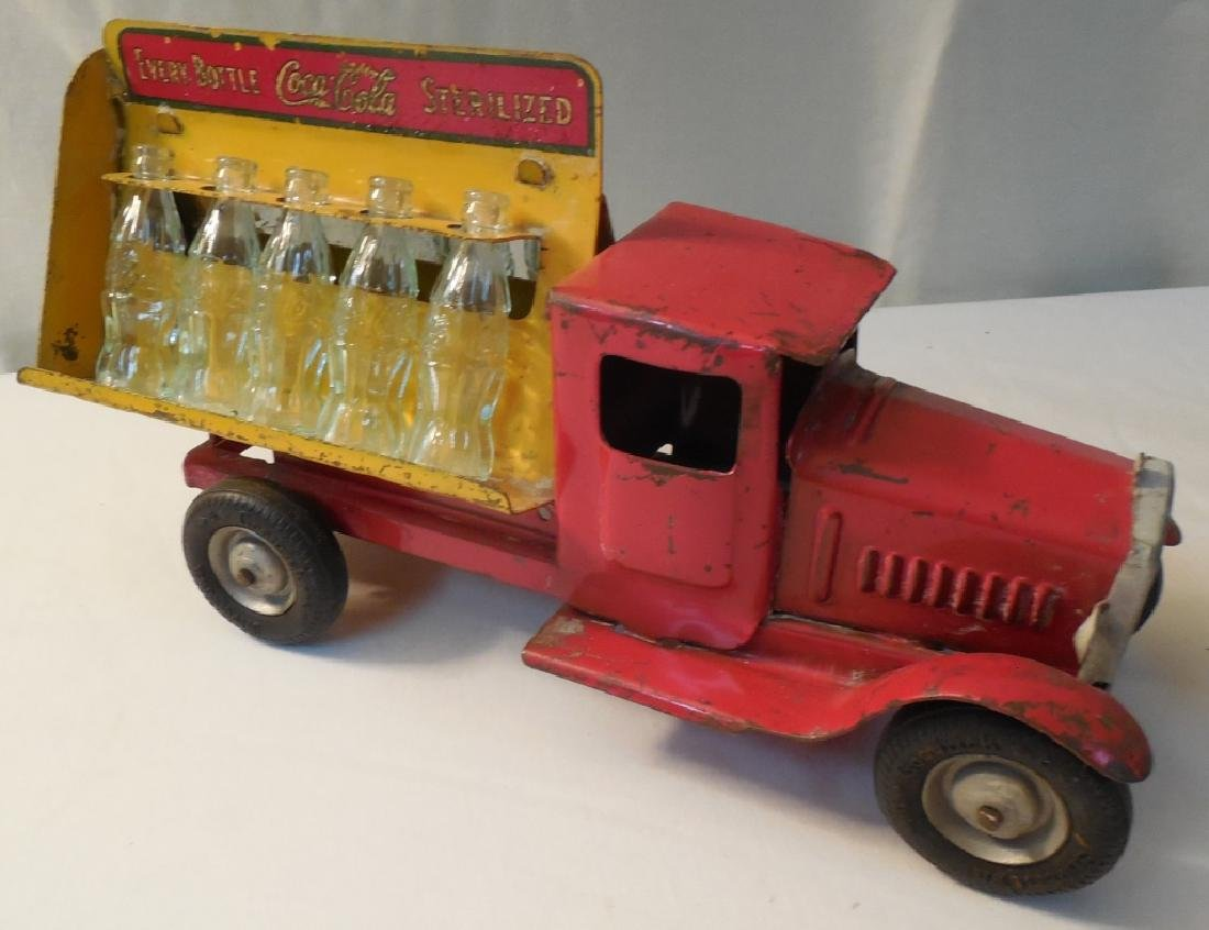 Old Coca-Cola Truck w/ 8 Glass Bottles - 3