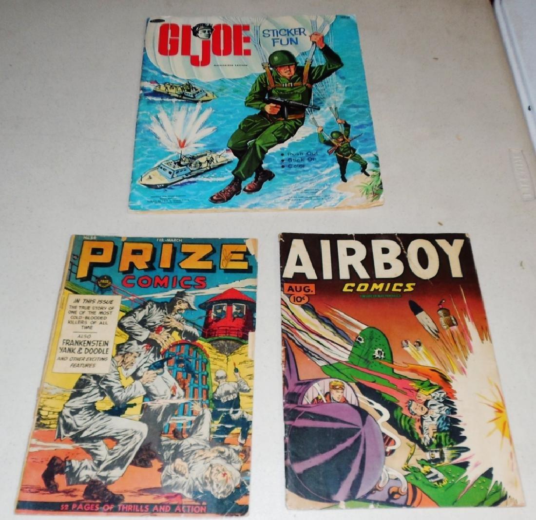 2 Comic Books & Sticker Book
