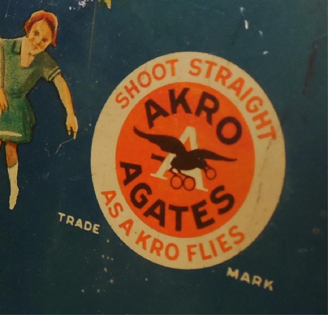 Akro Agates Set of Marbles in Tin Box - 2