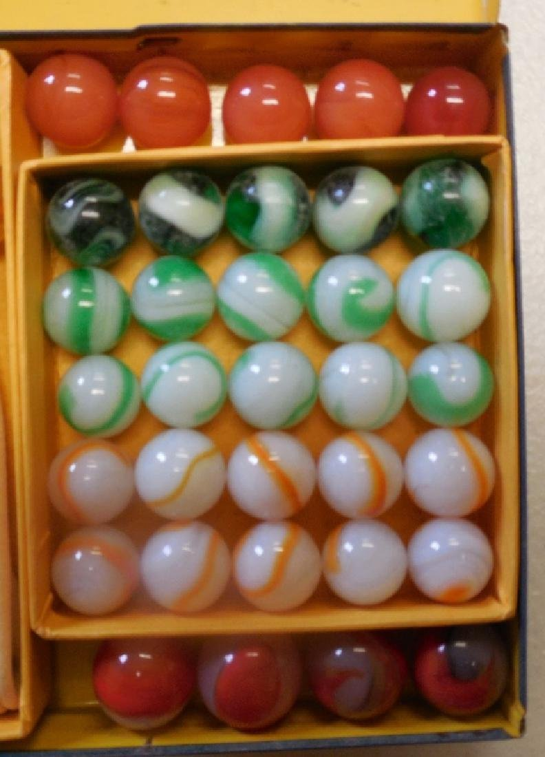 Akro Agates Set of Marbles in Tin Box - 5