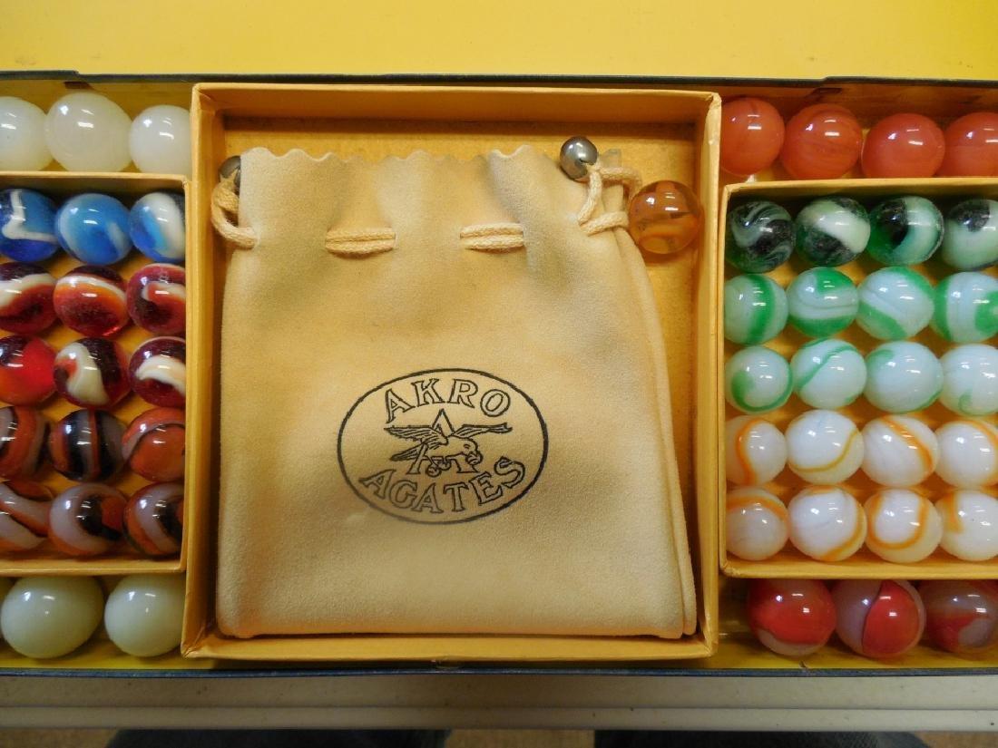 Akro Agates Set of Marbles in Tin Box - 6