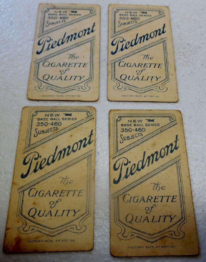 (4) T206 Cards Peidmont Back, - 6