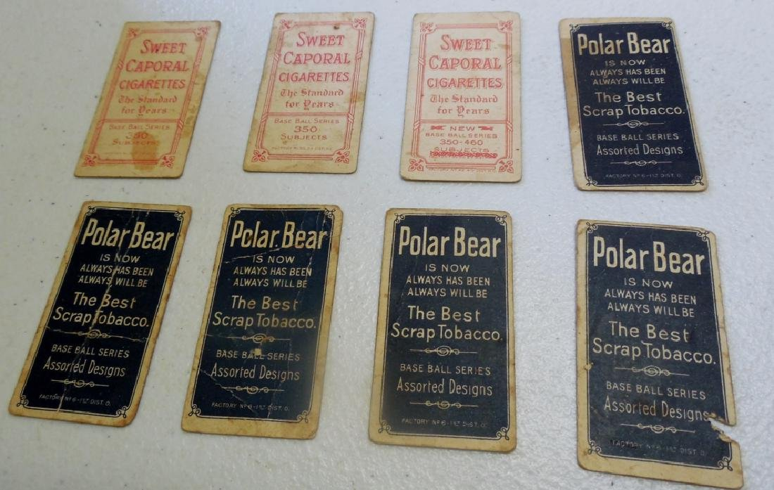 (6) T206 Cards Polar Bear and Sweet Caporal Back - 10