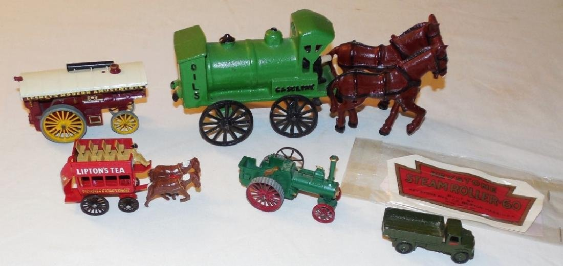 Lot of Steam Toys and Horsedrawn Toys