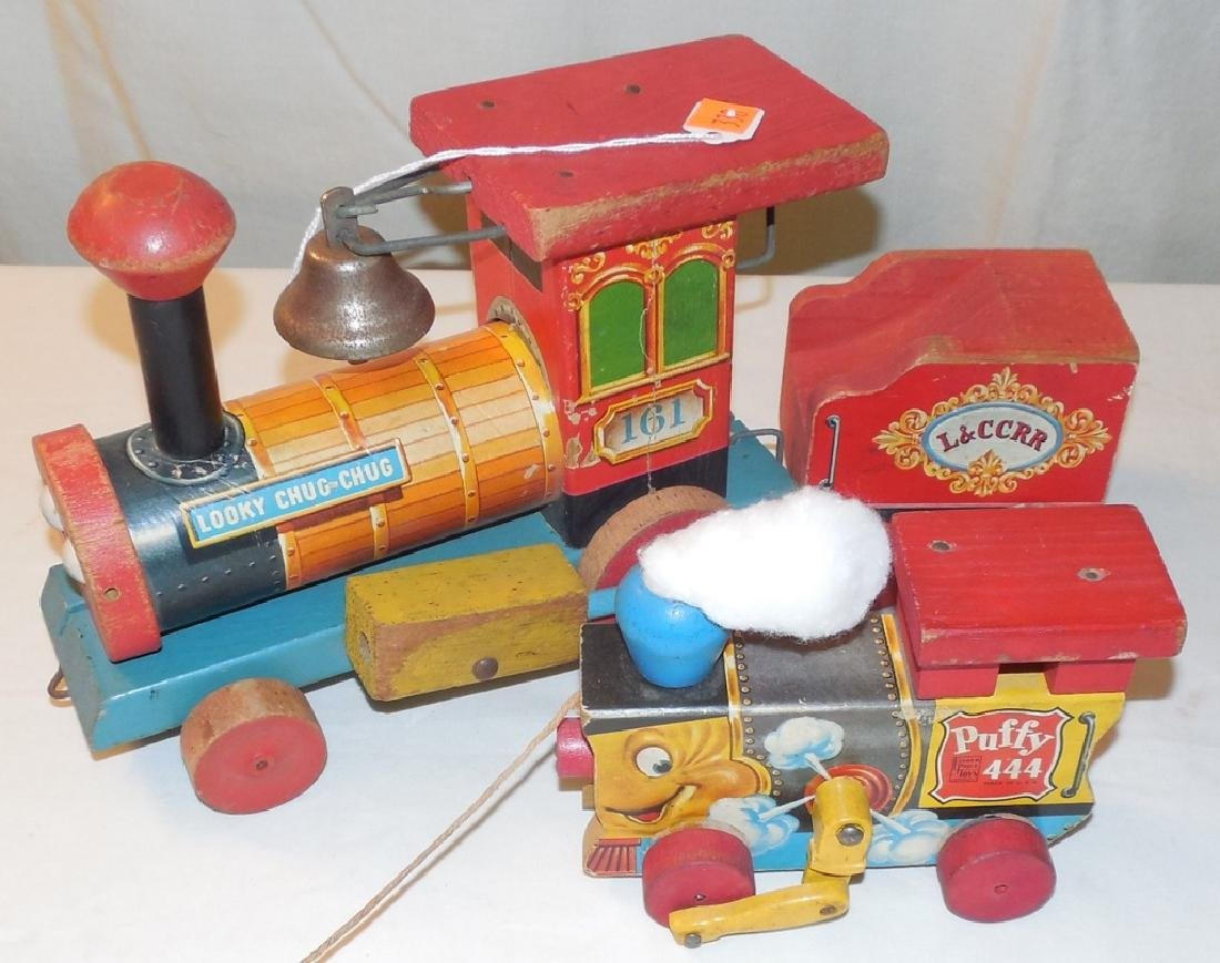 Wooden Fisher Price Trains