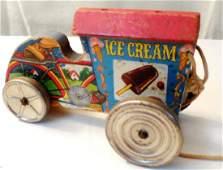 Ice Cream Cart Pull Type Wood