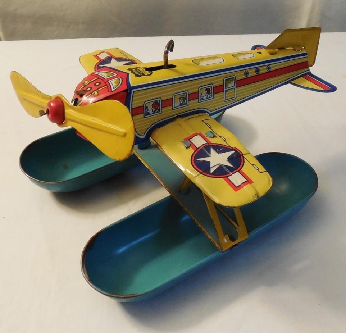Tin Wind-up Airplane