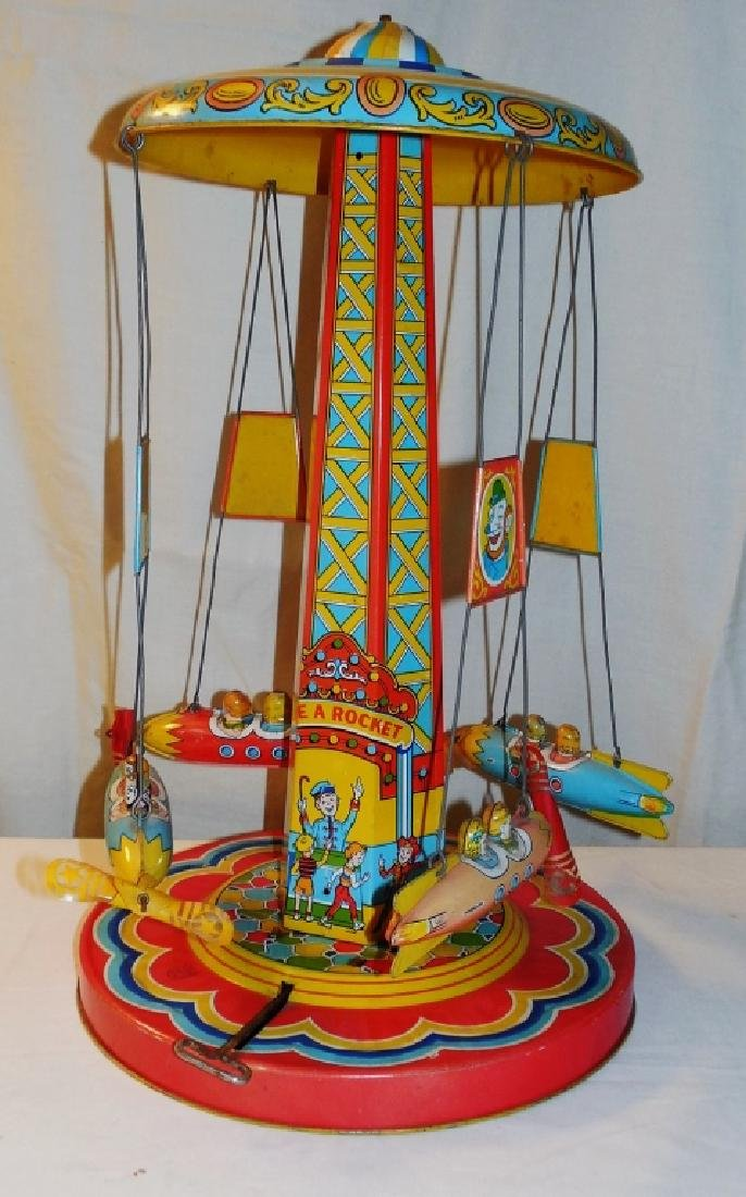 Ride a Rocket Wind-up Toy