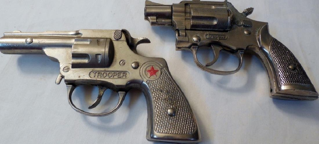 Lot of 2 Hubley Trooper Cap Guns