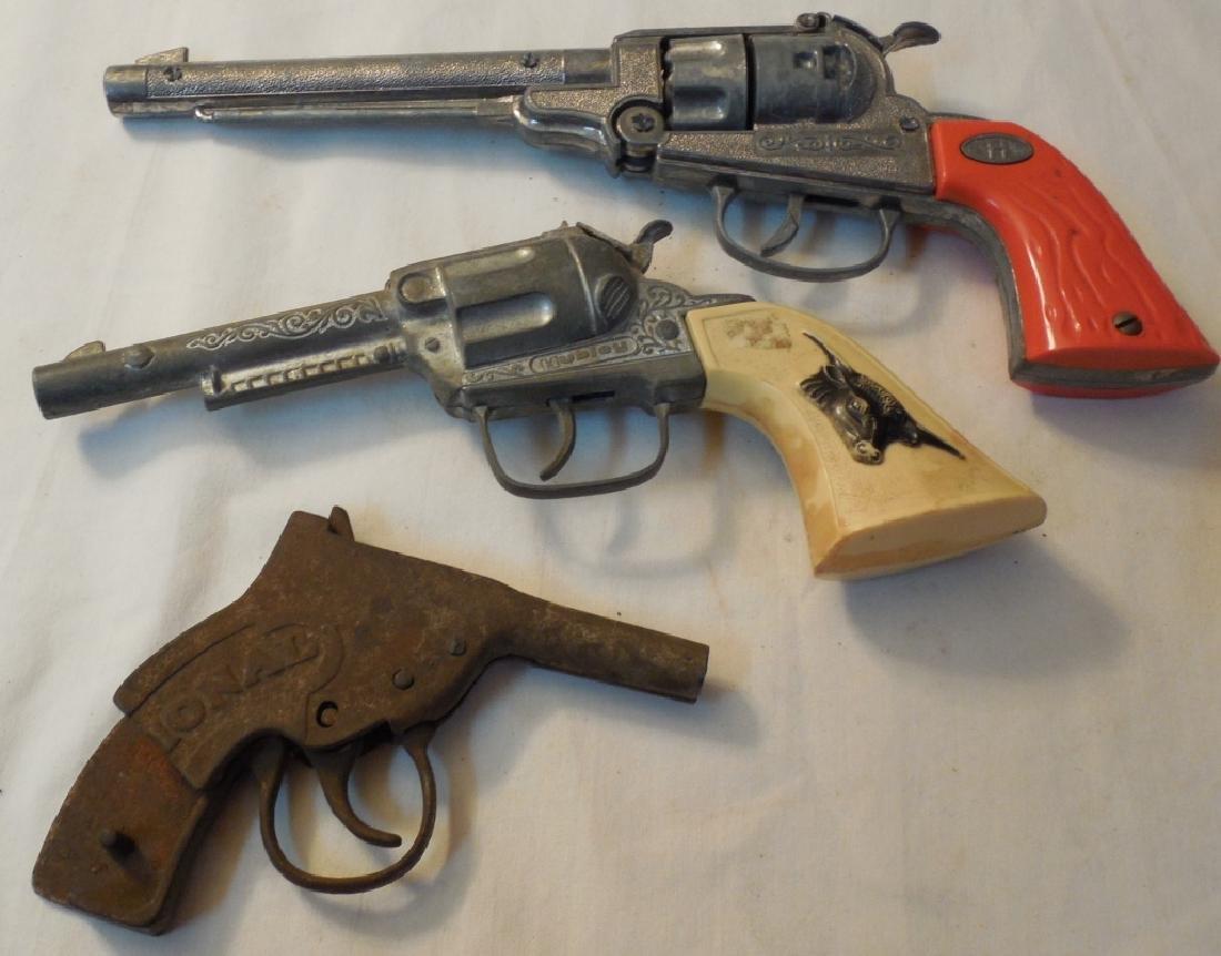 2 Hubley Western Cap Guns & Broken National