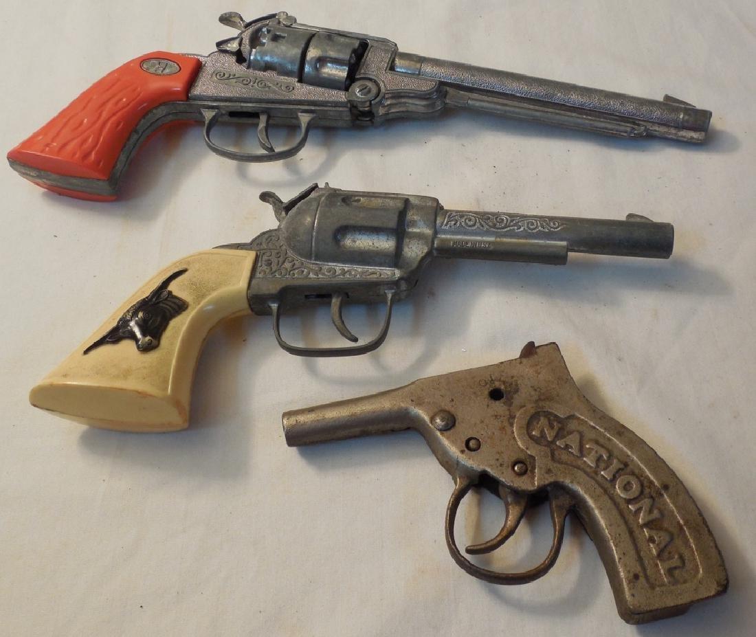 2 Hubley Western Cap Guns & Broken National - 2