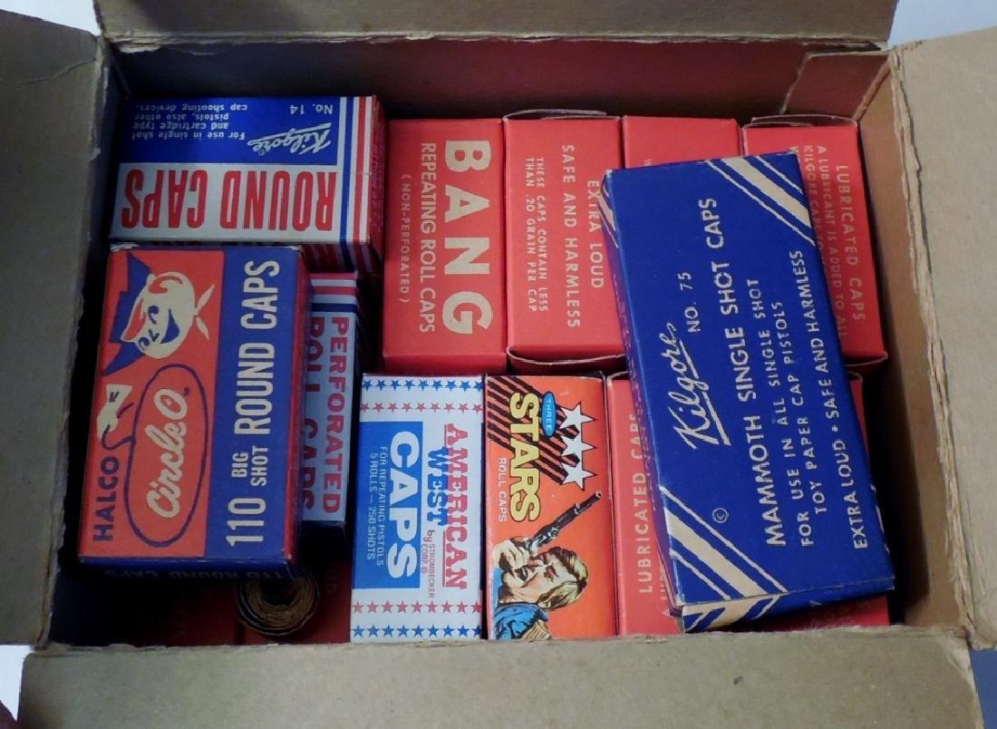 Box w/ Various Brands of Caps - 2