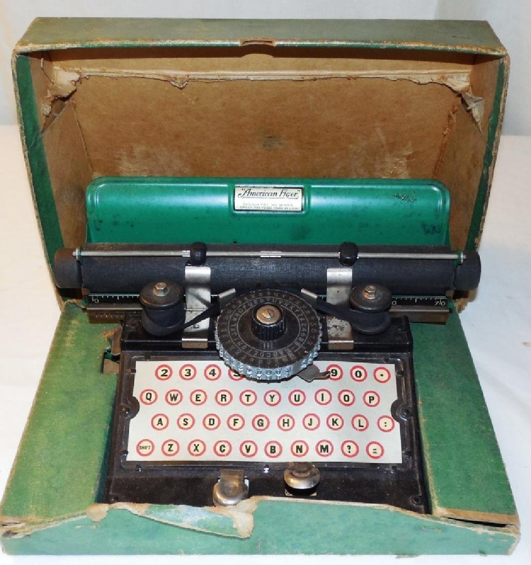 American Flyer Toy Typewriter