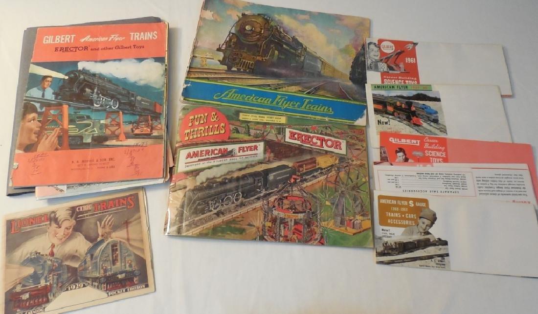Various American Flyer & Lionel Train Catalogs