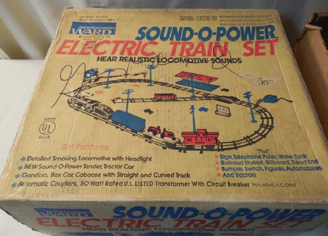 Montgomery Ward Sound-O-Power Electric Train Set