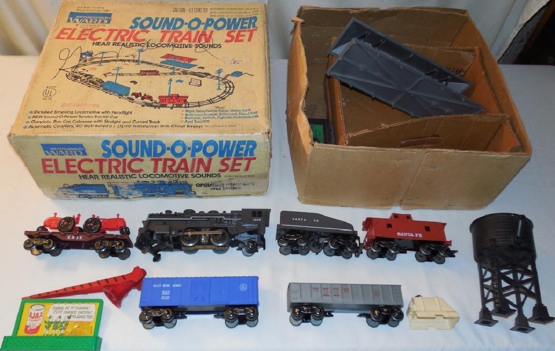 Montgomery Ward Sound-O-Power Electric Train Set - 2
