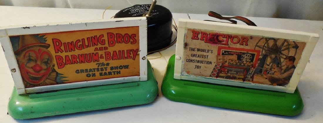 Lot of 2 American Flyer Billboards/Whistles