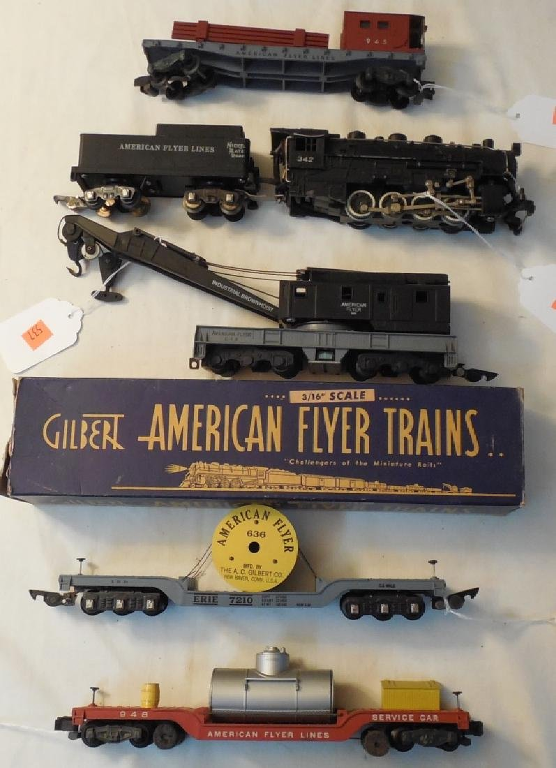 Lot of American Flyer Engines & Cars
