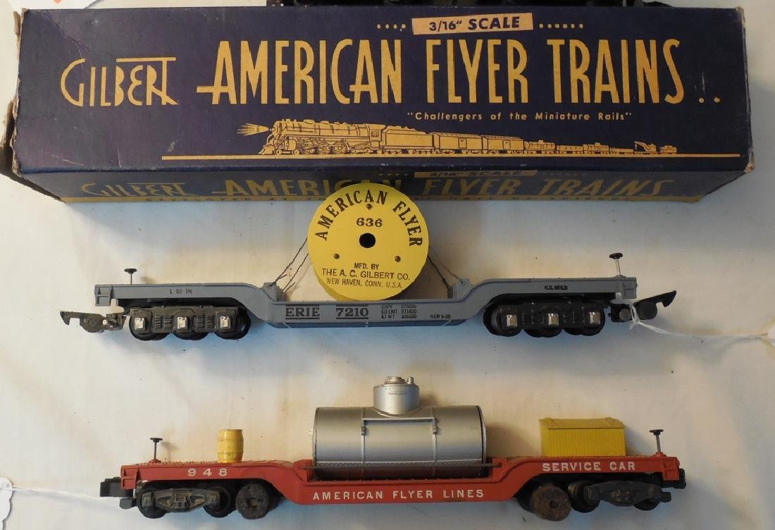Lot of American Flyer Engines & Cars - 2
