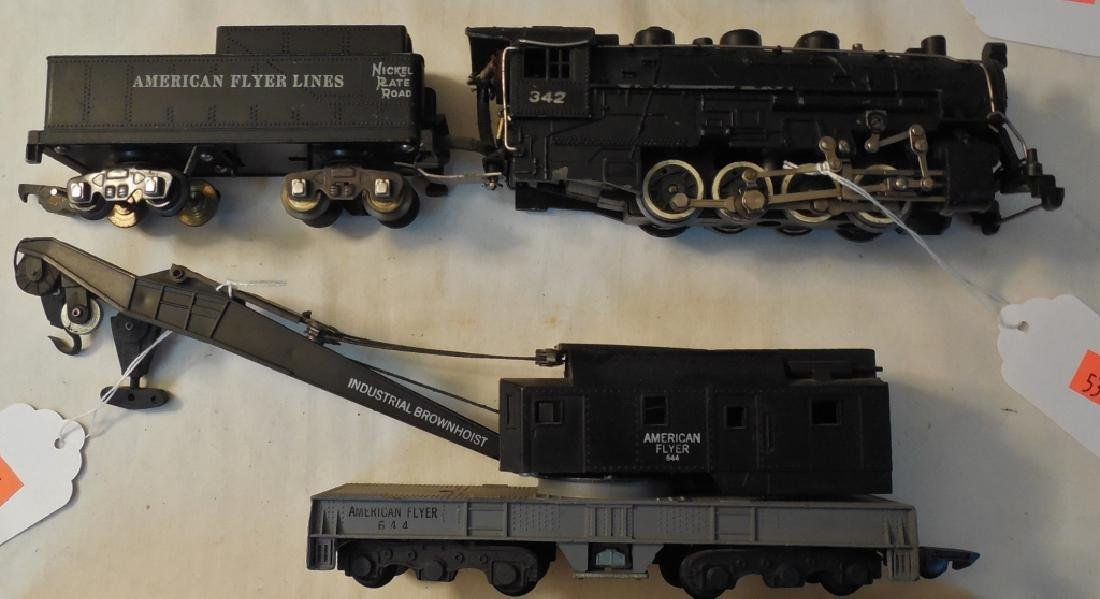 Lot of American Flyer Engines & Cars - 3