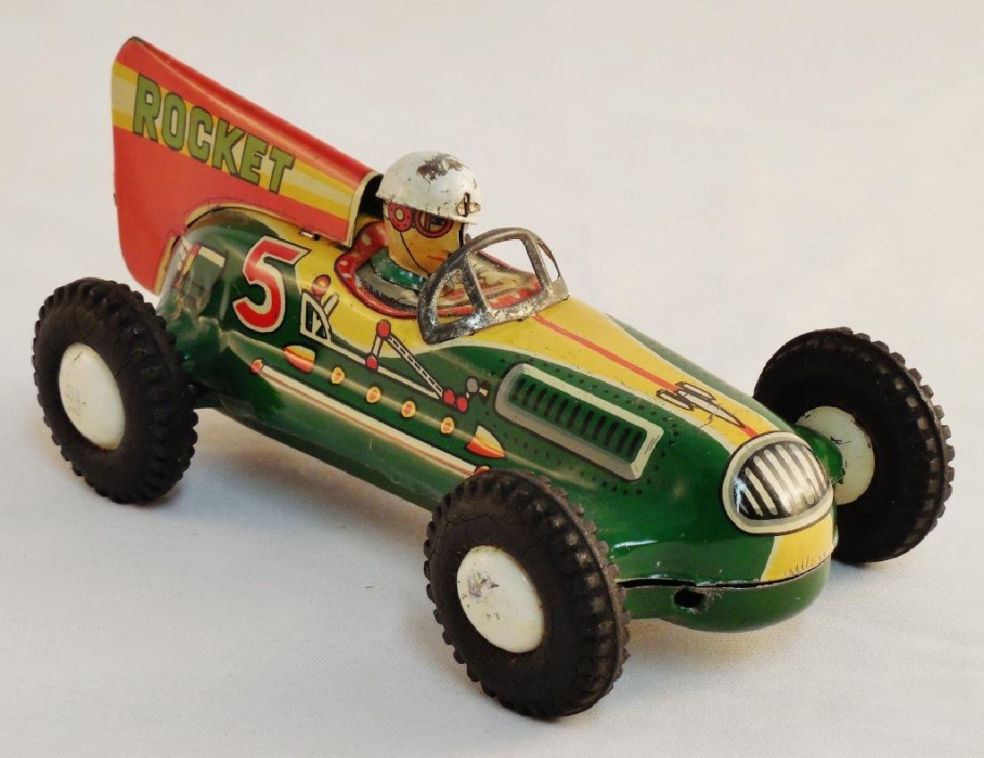 Rocket Racer Tin Toy