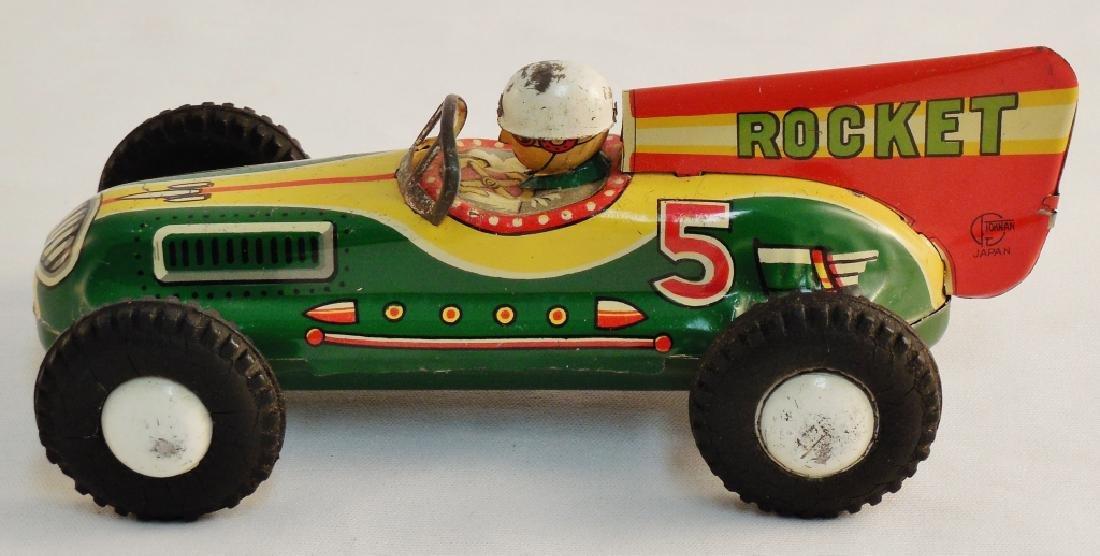 Rocket Racer Tin Toy - 3