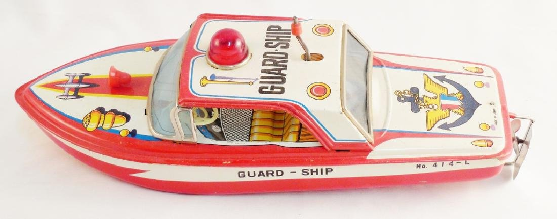 Friction Powered Guard Ship with Box - 4