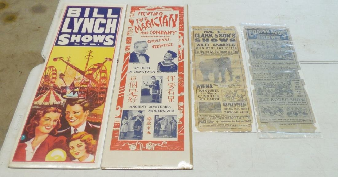 Lot of 4 Circus Posters