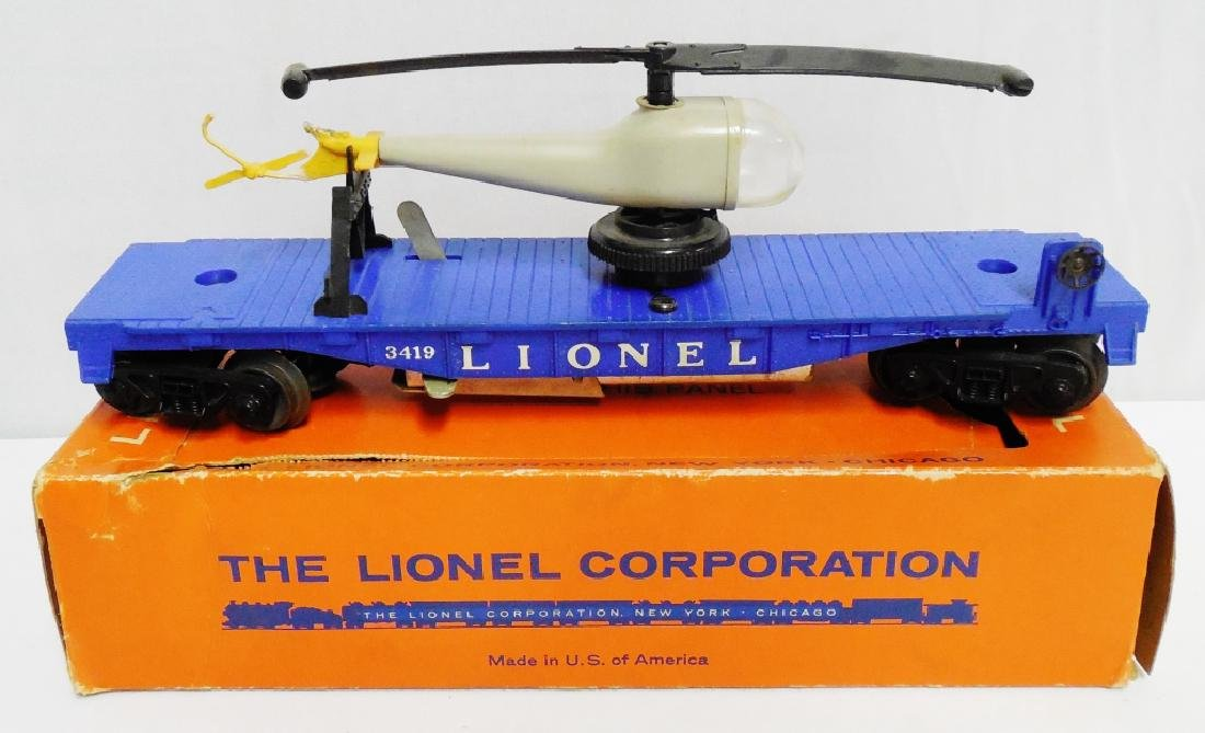 Lionel No 3419 Operating Helicopter Car with Box