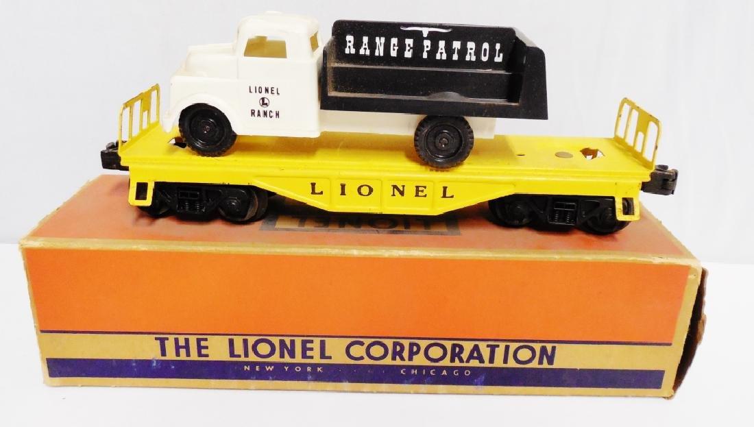 Lionel No 6151 Flat Car with Range Patrol Truck